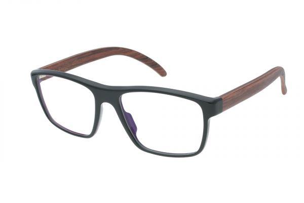 Edelweyes Brille BRUDERKOGEL - Acetat - Schwarz - Palisander