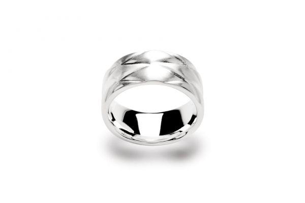 Bastian Ring Silber 925 rhodiniert Rautenmuster - 9828