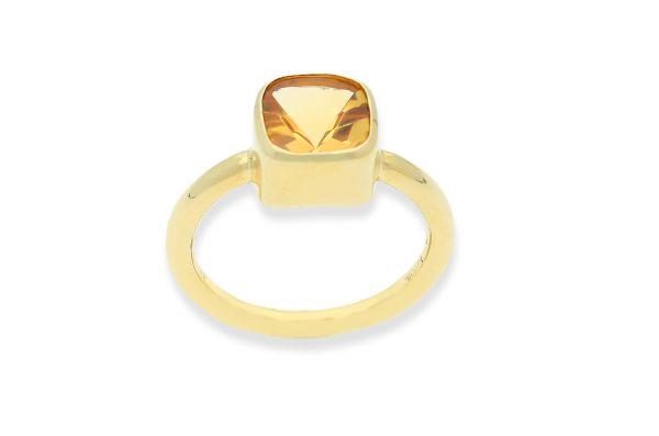 Bastian Ring mit Citrin Gold 585