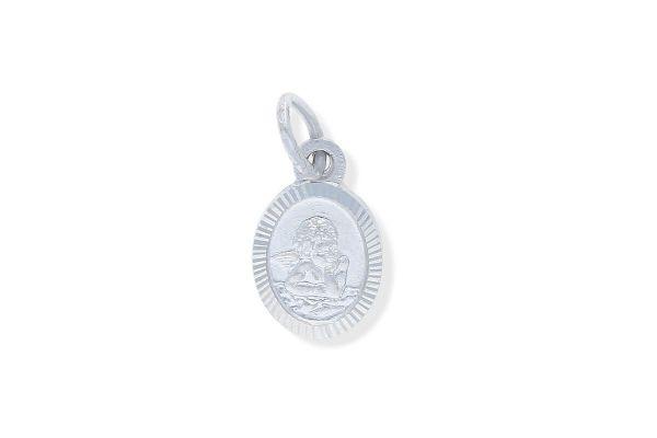 925 Silber Schutzengel Anhänger oval