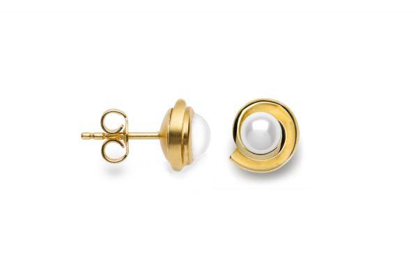 Bastian Ohrringe 585 Gold mit Perle