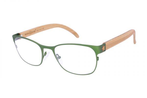 Edelweyes Brille SPIELBERG - Neusilber - Grün - Bambus