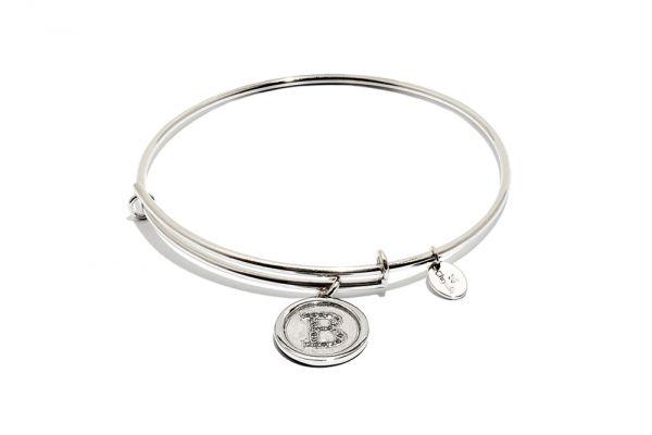 Chrysalis Bangle Initials - Silber B