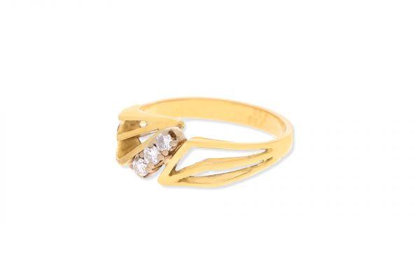 Ring 750 Gelbgold • Brillanten
