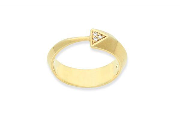 Bastian inverun Ring Gold 585 mit 0,03ct Diamant