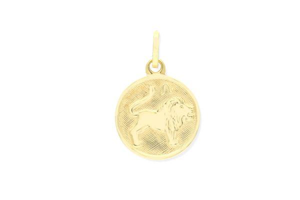 Sternzeichen Löwe - Anhänger rund 333 Gold