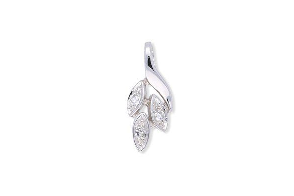 Anhänger 585 Weißgold • Diamanten