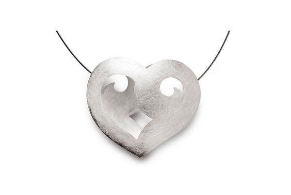 Bastian Collier mit Herz Anhänger 925 Silber