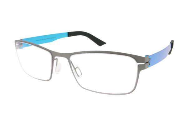 Grafix Brille GX2122 Titanium-Turquoise • Seitenansicht