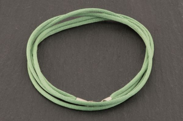 Gerry Eder 925 Silber - Satin Halskette doppelt in Grün
