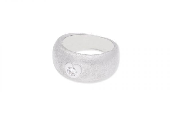 Ring 750 Weißgold • Zirkonia Herz