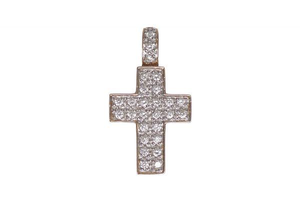585 Gold Kreuz Anhänger mit Brillanten