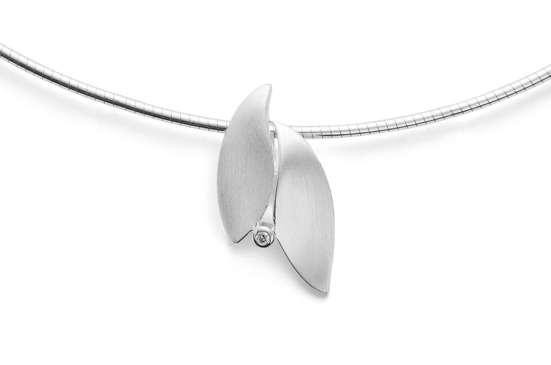Bastian Anhänger 925 Silber mit 0,01ct Diamant 28051