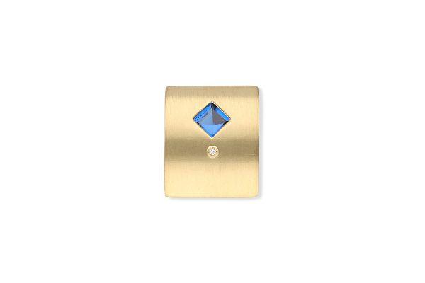 Anhänger 333 Gelbgold mit Spinell und Diamantbesatz