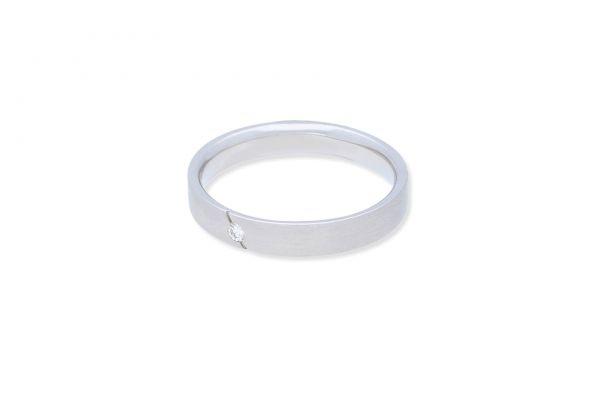 Ring 585 Weißgold • Brillant • Seitenansicht