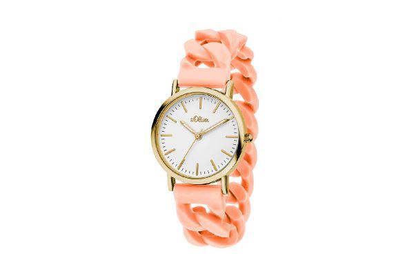 s.Oliver Damen Silikon Armbanduhr SO-3254-PQ