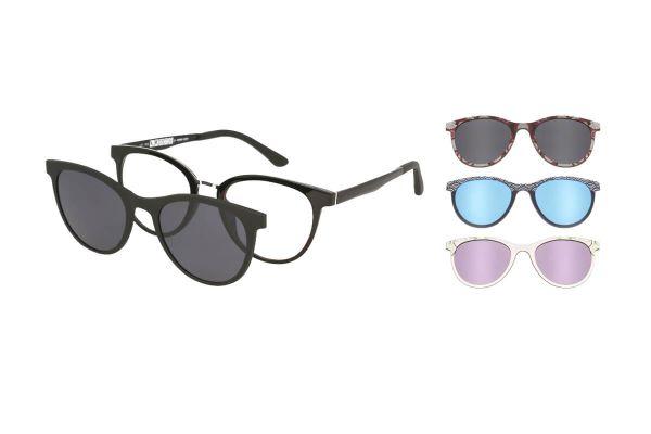 Spar-Set: Solano Brille CL90096 mit VIER polarisierten Magnet Sonnenclips
