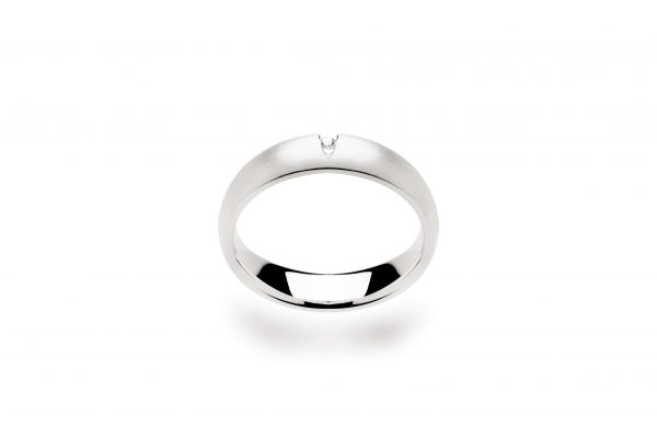 Bastian Ring mit 0,015ct Diamant Silber 925 rhodiniert - 10994