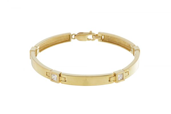 Armband in 333 Gelbgold • Zirkonia