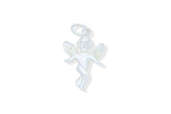 925 Silber Schutzengel Anhänger plastisch