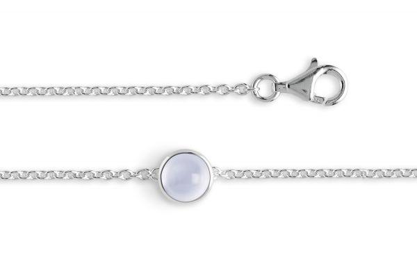 Bastian Armband 925 Silber mit 1,55 ct Chalcedon