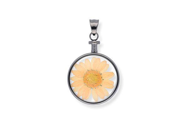Blumenkind Anhänger mit echter Chrysanthemen-Blüte BL01MGROR