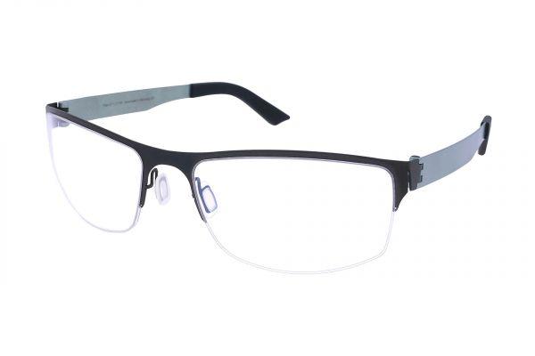 Grafix Brille John 03 mit gebogenen Gläsern • Titan