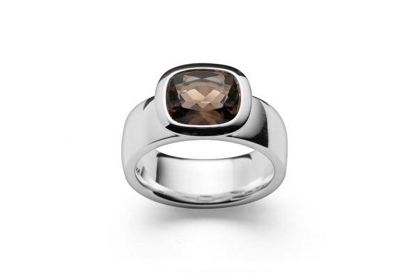 Bastian Ring 925 Silber mit 2,78ct Rauchquarz