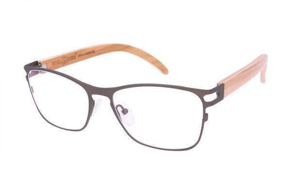 Edelweyes Brille ADMONT - Neusilber - Braun - Olivenholz