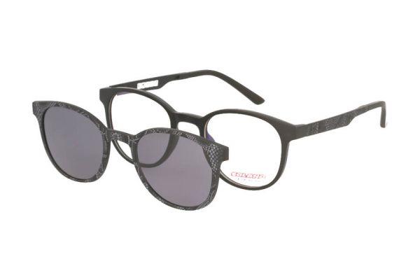 Solano Brille CL50017 B mit polarisiertem Magnet Sonnenclip