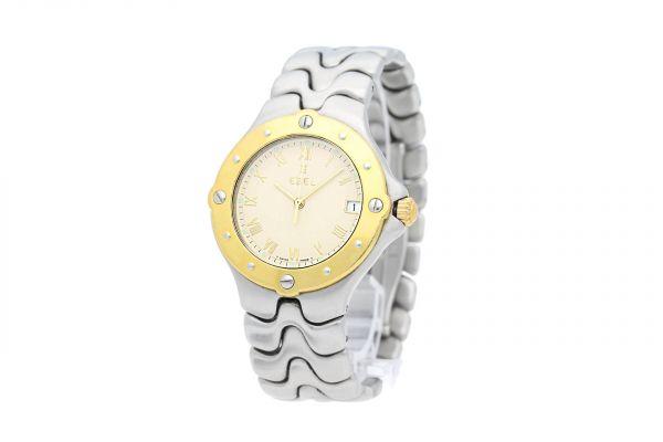 EBEL Armbanduhr SportWave aus Stahl mit Goldlünette
