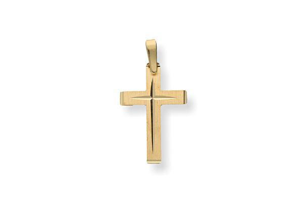 375 Gold Kreuz Anhänger