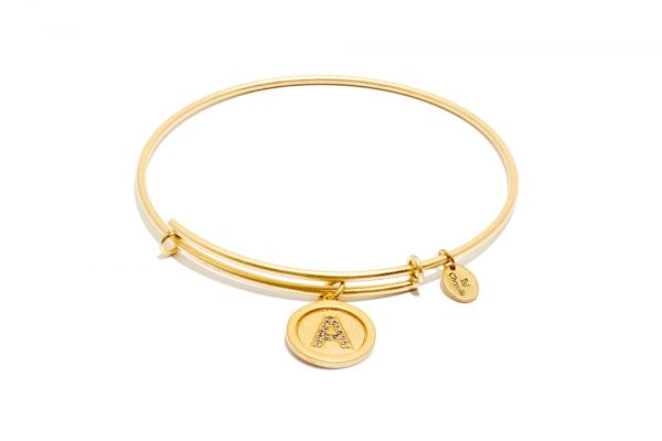 Chrysalis Bangle Initials - Gold A