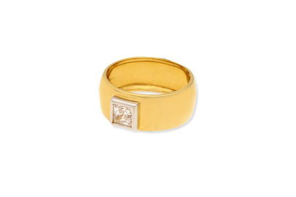 Ring 750 Gelbgold • Weißgold • Zirkonia