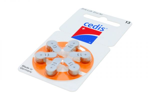 Cedis Typ 13 Hörgerätebatterien • 6 Stück