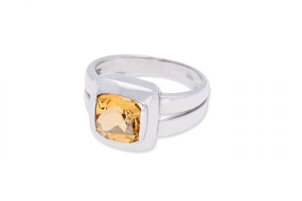 Ring 750 Weißgold • Citrin