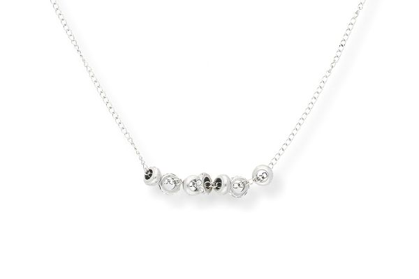 Miglio Halskette N1770 versilbert mit Swarovski Kristallen