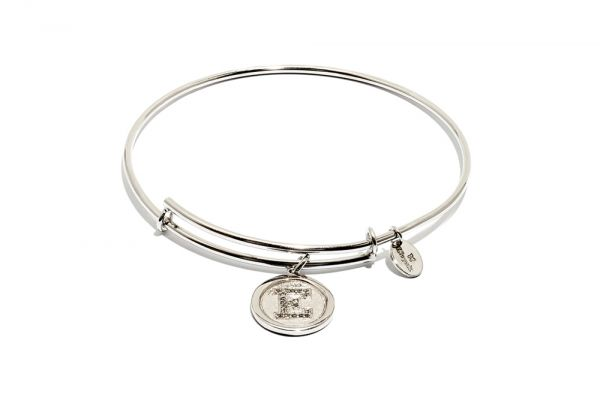 Chrysalis Bangle Initials - Silber E