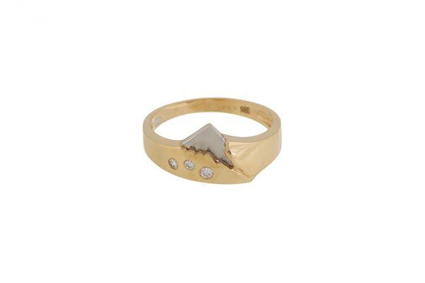 Ring 585 Gelbgold • Weißgold • Brillanten