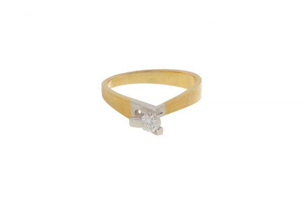Ring 750 Gelbgold u. Weißgold in Gr. 47