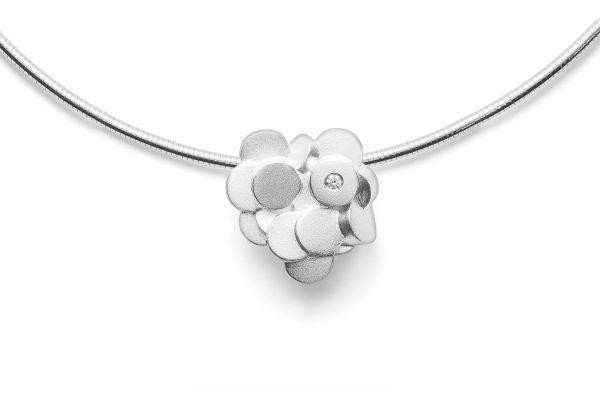 Bastian Floraler Anhänger Silber 925 mit 0,02ct Diamant - 27991
