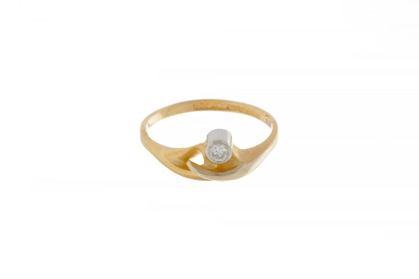 Lapponia Ring Afrodite 750 Gelbgold mit Brillant - Gr. 54