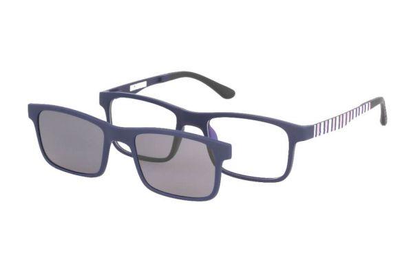 Solano Brille CL50019 E mit polarisiertem Magnet Sonnenclip