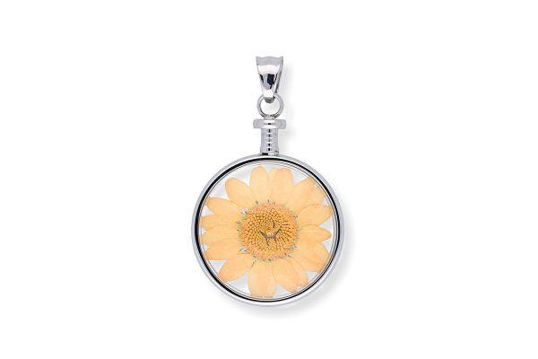 Blumenkind Anhänger mit echter Chrysanthemen-Blüte BL01MSSOR