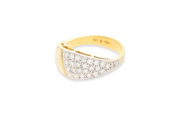 Ring 750 Gelbgold • Brillanten - Seitenansicht