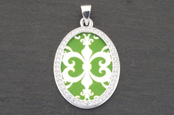 Gerry Eder 925 Silber Trachten Amulette Anhänger in Grün