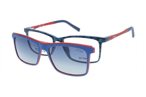 Sting Kinderbrille mit Magnet-Sonnenclip - VSJ670 0VAP