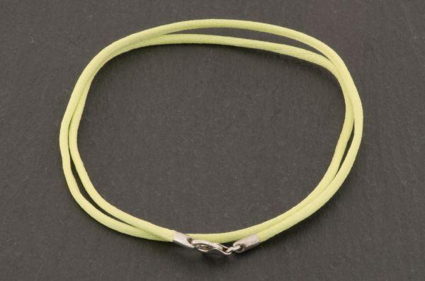 Gerry Eder 925 Silber - Satin Halskette in Hellgrün