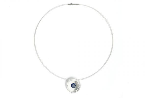 Bernd Wolf 925er Silber-Collier Melanni - Lapislazuli