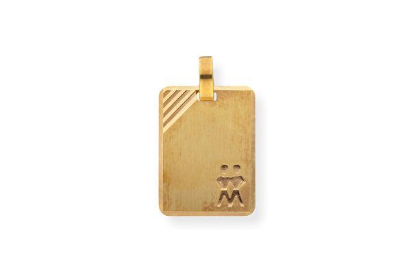 Sternzeichen Zwilling - Anhänger 333 Gold